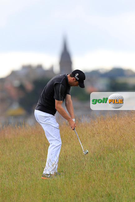 Ross FISHER (ENG) plays his 2nd shot on the 15th hole during Sunday's Round  of the 144th Open Championship, St Andrews Old Course, St Andrews, Fife, Scotland. 19/07/2015.<br /> Picture Eoin Clarke, www.golffile.ie