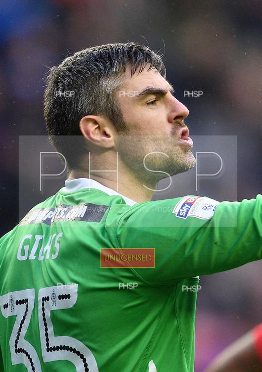 25/02/2017 Sky Bet Championship Wigan Athletic v Nottingham Forest<br /> <br /> Matt Gilks, Swansea