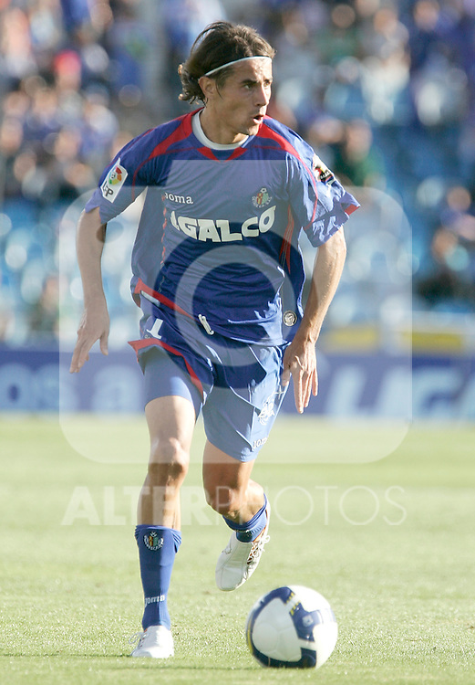 Getafe's David Cortez during La Liga match, September 14, 2008. (ALTERPHOTOS/Alvaro Hernandez)