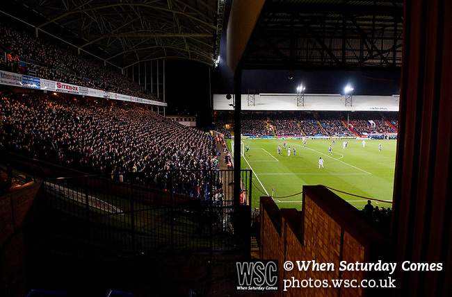 Crystal Palace 1 Huddersfield Town 1, 22/12/2012. Selhurst Park, Championship. Promotion chasing Crystal Palace aim to halt a poor run of form against lowly Huddersfield. View from the corner of the Arthur Wait stand. Photo by Simon Gill.