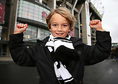 4th November 2017, Twickenham Stadium, Twickenham, England; Autumn International Rugby, Barbarians versus New Zealand; Young Barbarians fan posing outside Twickenham Stadium before kick off