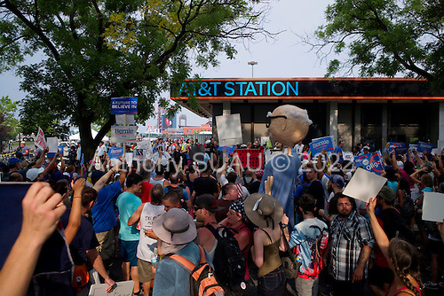 Philadelphia, Pennsylvania<br /> July 25, 2016 <br /> <br /> A demonstration during the Democratic National Convention's (DNC) opening day near the Wells Fargo Center. The rally was in support of Bernie Sanders and third party candidate, Jill Stein of the Green Party.