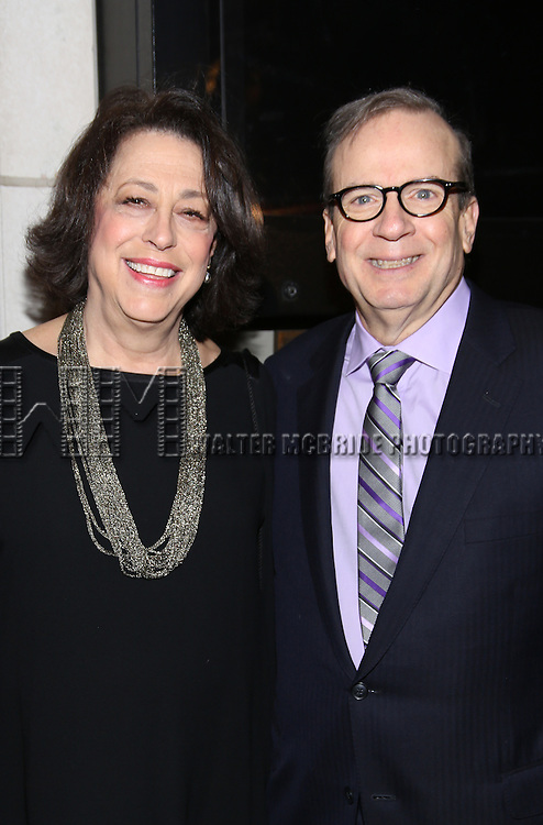 Lynne Meadow and Barry Grove attend the Manhattan Theatre Club's Broadway debut of August Wilson's 'Jitney' at the Samuel J. Friedman Theatre on January 19, 2017 in New York City.