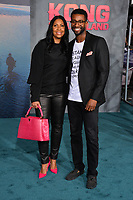 Cookie Johnson &amp; Guest at the premiere for &quot;Kong: Skull Island&quot; at Dolby Theatre, Los Angeles, USA 08 March  2017<br /> Picture: Paul Smith/Featureflash/SilverHub 0208 004 5359 sales@silverhubmedia.com