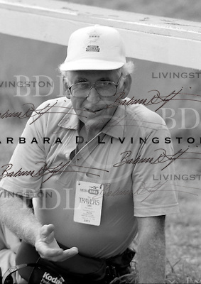 Tony Leonard, the master of conformation photography, photographed at Saratoga Race Course during the 1989 meeting