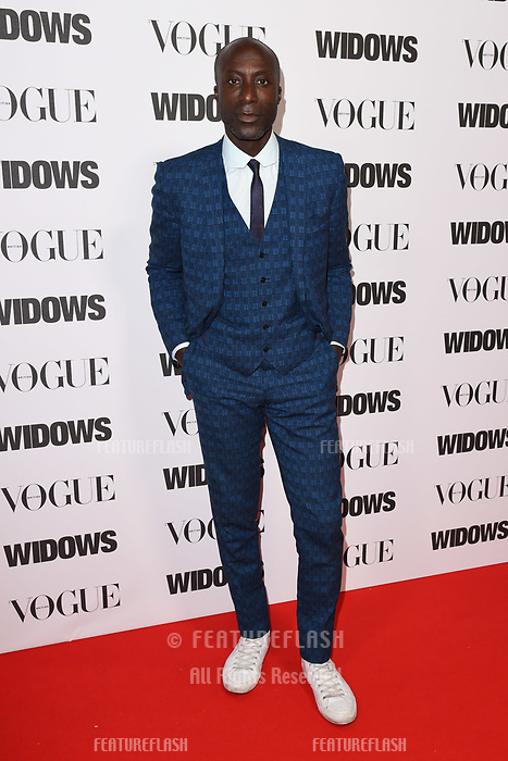 LONDON, UK. October 31, 2018: Oswald Boateng at the &quot;Widows&quot; special screening in association with Vogue at the Tate Modern, London.<br /> Picture: Steve Vas/Featureflash