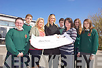 Students from Causeway Secondary school helped raise funds for Bóthar recently through a sponsored fast. .Pictured were: Emma Lawlor, Jordan Conway, Emer O'Brien (teacher), Niamh Mulqueen (Bóthar), Sean Kelliher, Ann Marie Hassett, Aoife Carlin and Laura McKenna.