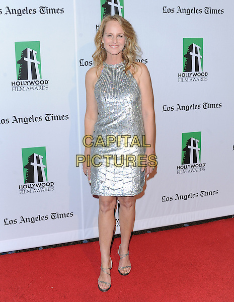 Helen Hunt.16th Annual Hollywood Film Awards Gala held at the Beverly Hilton Hotel, Beverly Hills, California, USA..October 22nd, 2012.full length silver sleeveless dress .CAP/RKE/DVS.©DVS/RockinExposures/Capital Pictures.