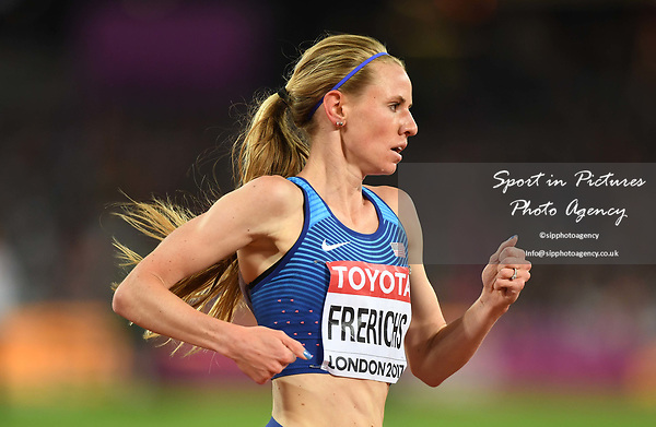 Courtney FRERICHS (USA) in the womens 3000m steeplechase final. IAAF world athletics championships. London Olympic stadium. Queen Elizabeth Olympic park. Stratford. London. UK. 11/08/2017. ~ MANDATORY CREDIT Garry Bowden/SIPPA - NO UNAUTHORISED USE - +44 7837 394578