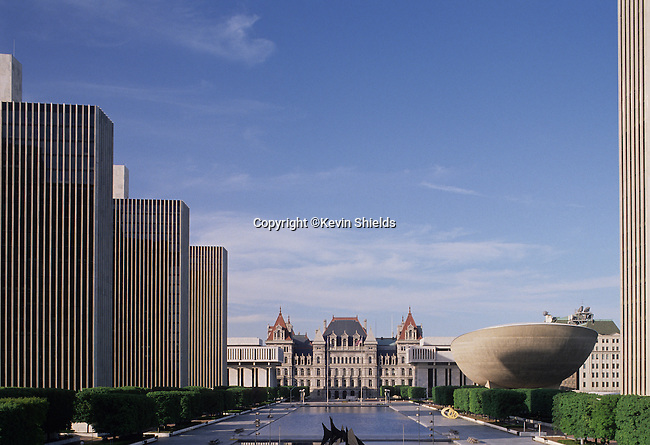 View of Empire Plaza, Albany, New York, USA