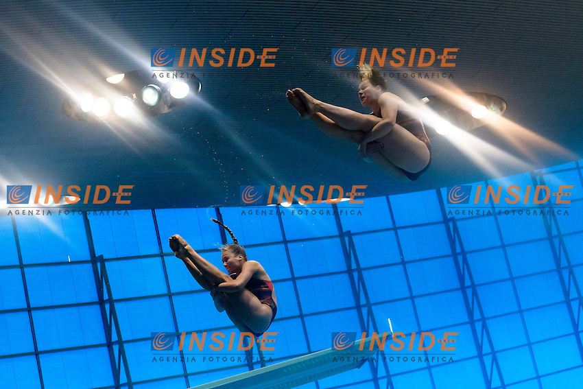 Tina PUNZEL Nora SUBSCHINSKI GER<br /> Men's 10m Platform Final <br /> London, Queen Elizabeth II Olympic Park Pool <br /> LEN 2016 European Aquatics Elite Championships <br /> Diving  <br /> Day 07 15-05-2016<br /> Photo Andrea Staccioli/Deepbluemedia/Insidefoto