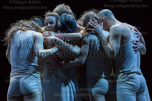 Members of the Szeged Contemporary Dance Company perform during a dress rehearsal of The Rite of Spring in Budapest, Hungary on March 18, 2014. ATTILA VOLGYI