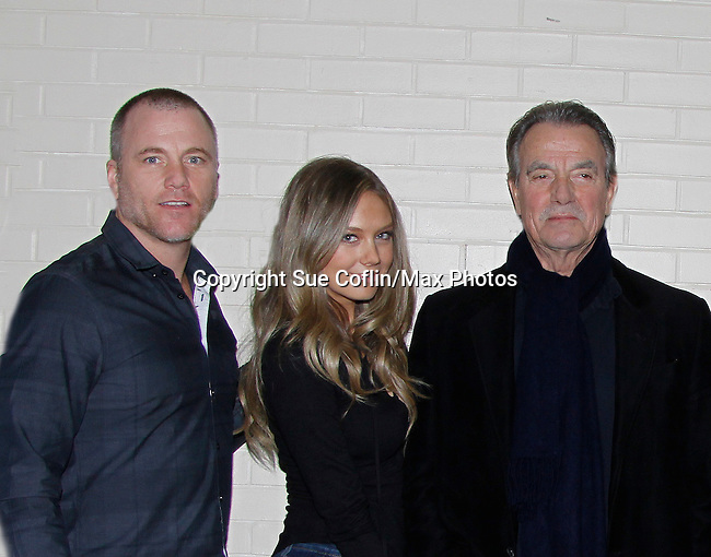 The Young and The Restless - Sean Carrigan, Melissa Ordway, Eric Braeden - Genoa City Live celebrating over 40 years on February 27 at the Lyric Opera House on stage with questions and answers hosted by Christian and Sean followed with autographs and photos in the theater.  (Photo by Sue Coflin/Max Photos)