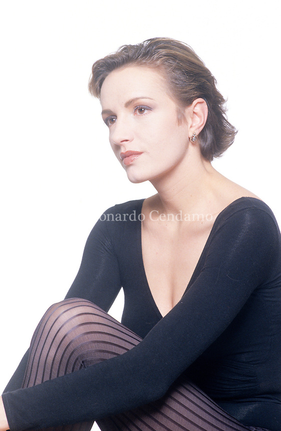 Maddalena Crippa, italian actress the prose. Milan, Teatro San Babila 1990. © Leonardo Cendamo