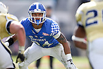 Linebacker Jordan Jones #34 of the Kentucky Wildcats looks on during the first half of the TaxSlayer Bowl against the Georgia Tech Yellow Jackets at EverBank Field on Saturday, December 31, 2016 in Jacksonville, Florida. Photo by Michael Reaves | Staff.