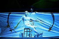 """BOGOTÁ-COLOMBIA-09-04-2014. Ensayo de la obra """"Medea"""" de la Compañía Pandur Theaters y Teatro Nacional de Zagreb, Croacia, realizado en el teatro Colsubsidio y que forma parte de la programación del XIV Festival Iberoamericano de Teatro de Bogotá 2014./  Reherseal of the Play """"Medea"""" of the company Pandur Theaters  and National Theater of Zagreb, Croatia, performed at Colsubsidio Theater as a part of  schedule of the XIV Ibero-American Theater Festival of Bogota 2014.  Photo: VizzorImage/ Gabriel Aponte /Staff"""