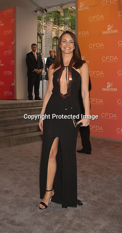 Kristen Davis                                ..at the CFDA Fashion Awards on June 2,2003 at the ..New York Public Library. Photo by Robin Platzer, Twin Images