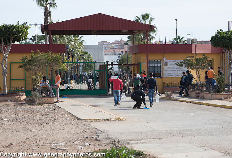 Centro de Estancia Temporal de Inmigrantes, centre for temporary immigrants, Melilla, Spain, north Africa