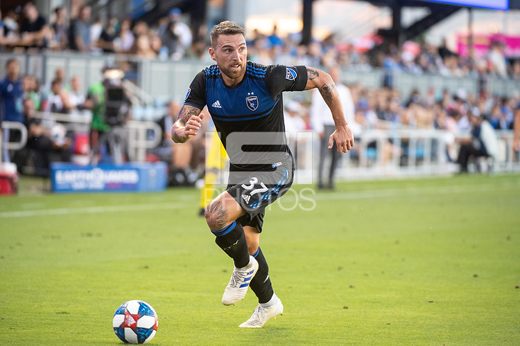 San Jose, CA - Saturday August 03, 2019: Guram Kashia #37 in a Major League Soccer (MLS) match between the San Jose Earthquakes and the Columbus Crew at Avaya Stadium.
