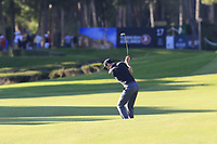 Ross Fisher (ENG) plays his 2nd shot on the 17th hole during Thursday's Round 1 of the 2018 Turkish Airlines Open hosted by Regnum Carya Golf &amp; Spa Resort, Antalya, Turkey. 1st November 2018.<br /> Picture: Eoin Clarke | Golffile<br /> <br /> <br /> All photos usage must carry mandatory copyright credit (&copy; Golffile | Eoin Clarke)