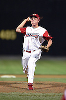 Williamsport Crosscutters pitcher Ricky Bielski (50) delivers a pitch during a game against the Aberdeen IronBirds on August 4, 2014 at Bowman Field in Williamsport, Pennsylvania.  Aberdeen defeated Williamsport 6-3.  (Mike Janes/Four Seam Images)