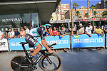 Marcus Burghardt (GER) Bora-Hansgrohe during Stage 1 of the La Vuelta 2018, an individual time trial of 8km running around Malaga city centre, Spain. 25th August 2018.<br /> Picture: Ann Clarke | Cyclefile<br /> <br /> <br /> All photos usage must carry mandatory copyright credit (© Cyclefile | Ann Clarke)