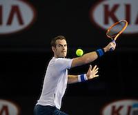 ANDY MURRAY (GBR)<br /> <br /> Tennis - Australian Open - Grand Slam -  Melbourne Park -  2014 -  Melbourne - Australia  - 16th January 2013. <br /> <br /> &copy; AMN IMAGES, 1A.12B Victoria Road, Bellevue Hill, NSW 2023, Australia<br /> Tel - +61 433 754 488<br /> <br /> mike@tennisphotonet.com<br /> www.amnimages.com<br /> <br /> International Tennis Photo Agency - AMN Images