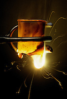 LITHIUM BURNING THROUGH BEAKER<br />