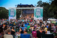 Austin's Blues on the Green free summer concert series in Zilker Park attract thousands of attendees to the Zilker Metropolitan Park in downtown Austin, Texas.