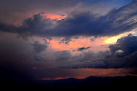 Aug. 21, 2012; Phoenix, AZ, USAcloud sunset thunderstorm thunderhead mountain South Mountain Mandatory Credit: Mark J. Rebilas