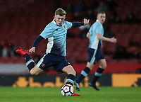 Blackpool U18's Rowan Roache<br /> <br /> Photographer Andrew Kearns/CameraSport<br /> <br /> Emirates FA Youth Cup Semi- Final Second Leg - Arsenal U18 v Blackpool U18 - Monday 16th April 2018 - Emirates Stadium - London<br />  <br /> World Copyright &copy; 2018 CameraSport. All rights reserved. 43 Linden Ave. Countesthorpe. Leicester. England. LE8 5PG - Tel: +44 (0) 116 277 4147 - admin@camerasport.com - www.camerasport.com