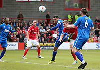 Dave Winfield of Ebbsfleet United scores the opening Ebbsfleet goal during Ebbsfleet United vs Chelmsford City, Vanarama National League South Play-Off Final Football at The PHB Stadium on 13th May 2017