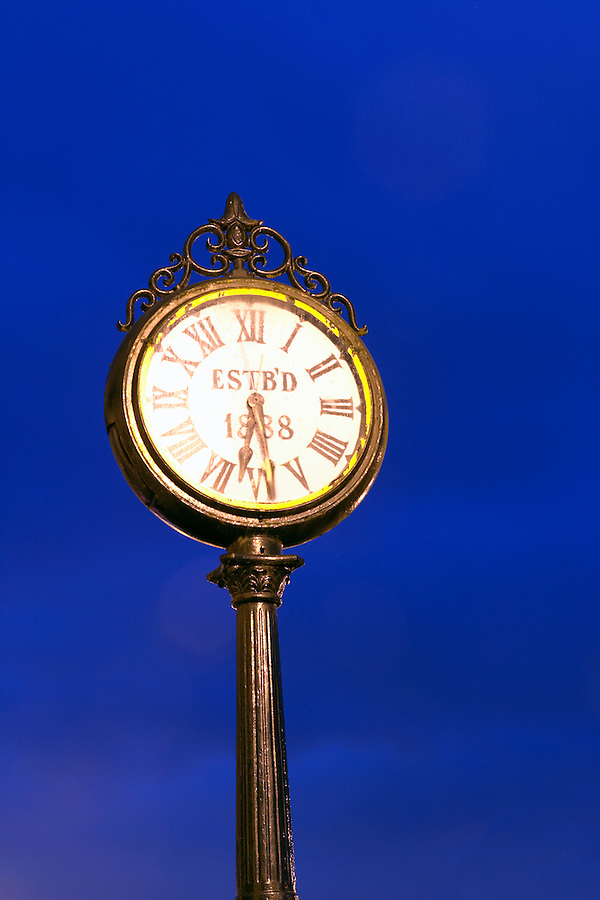 City of Snohomish town clock commemorating the incorporation of Snohomish in 1888, Snohomish, Washington, USA (notice error on 11th hour)