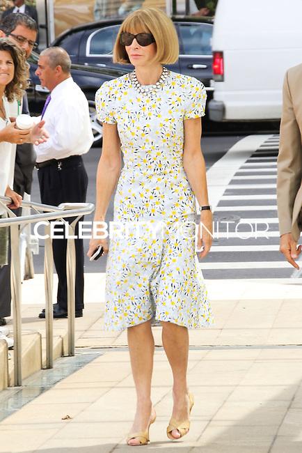NEW YORK CITY, NY, USA - SEPTEMBER 03: Anna Wintour arrives at the 8th Annual Fashion Award Honoring Carolina Herrera held at the David H. Koch Theater at Lincoln Center on September 3, 2014 in New York City, New York, United States. (Photo by Jeffery Duran/Celebrity Monitor)
