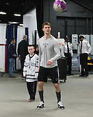Kevin Rich (PC - 17), Mark Jankowski (PC - 10) - The Providence College Friars warmed up prior to the Frozen Four final at TD Garden on Saturday, April 11, 2015, in Boston, Massachusetts.