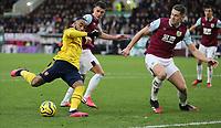 2nd February 2020; Turf Moor, Burnley, Lancashire, England; English Premier League Football, Burnley versus Arsenal; Alexandre Lacazette of Arsenal shoots