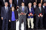 Spanish tennis player Rafael `Rafa´Nadal receives the 75th Anniversary Marca Award during the ceremony at Callao cinema in Madrid, Spain. November 26, 2013. (ALTERPHOTOS/Victor Blanco)