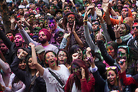 People attend the Holi Hai festival organized by Indian community in New York City March 31, 2013. Photo by Eduardo Munoz Alvarez / VIEWpress.