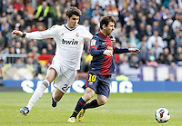 Real Madrid's Alvaro Morata (l) and FC Barcelona's Leo Messi during La Liga match.March 02,2013. (ALTERPHOTOS/Acero) /NortePhoto