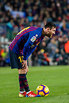 Lionel Andres Messi of FC Barcelona gets ready to kick the ball during the La Liga 2018-19 match between FC Barcelona and RC Celta de Vigo at Camp Nou on 22 December 2018 in Barcelona, Spain. Photo by Vicens Gimenez / Power Sport Images