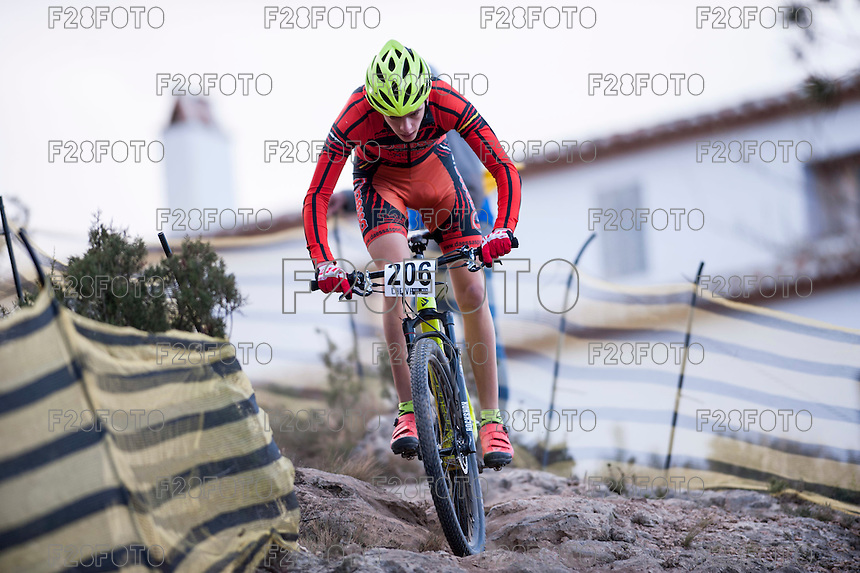 Chelva, SPAIN - MARCH 6: Saul Calzada during Spanish Open BTT XCO on March 6, 2016 in Chelva, Spain