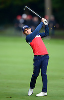 Fabrizio Zanotti of Paraguay in action during Round 4 of the 2015 British Masters at the Marquess Course, Woburn, in Bedfordshire, England on 11/10/15.<br /> Picture: Richard Martin-Roberts | Golffile