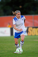 Kelly Smith (10) of the Boston Breakers. Sky Blue FC defeated the Boston Breakers 2-1 during a Women's Professional Soccer (WPS) match at Yurcak Field in Piscataway, NJ, on May 28, 2011.