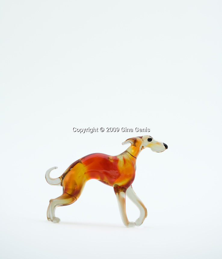 Glass greyhound figurine