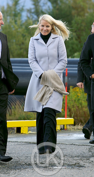 """Crown Prince Haakon, and Crown Princess Mette-Marit of Norway on a three day visit to """" North Troms """", in Northern Norway. visit Haplast Technology in Furuflaten."""