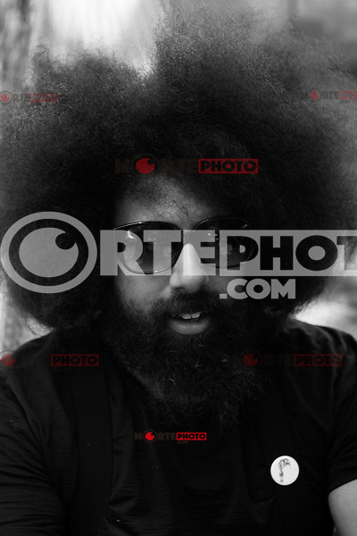 Reggie Watts at the 2012 Bonnaroo Music Festival in Manchester, Tennessee. June 9, 2012. Credit: Jen Maler / MediaPunch Inc. ***Double Rates Required*** NORTEPHOTO.COM<br /> NORTEPHOTO.COM