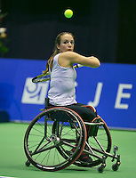 22-12-13,Netherlands, Rotterdam,  Topsportcentrum, Tennis Masters, Wheelchair final, Jiske Griffioen(NED)   <br /> Photo: Henk Koster