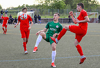 Dino-Samuel Kurbegovic (Offenbach) gegen Haris Kajevic (Büttelborn) - Büttelborn 15.05.2019: SKV Büttelborn vs. Kickers Offenbach, A-Junioren, Hessenpokal Halbfinale