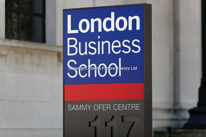 Pictured: The London Business School. Wednesday 27 June 2018<br /> Re: Greek Prime Minister Alexis Tsipras gives a speech at the Sammy Ofer building of the London Business School in London, UK