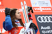 7th January 2018, Val di Fiemme, Fiemme Valley, Italy; FIS Cross Country World Cup, Tour de ski; Ladies 9km F Pursuit; Heidi Weng (NOR)on the podium
